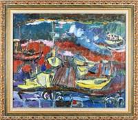 żółte łodzie rybackie w jaffie by judyta sobel