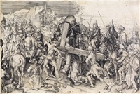 christ carrying the cross: the large plate by martin schongauer