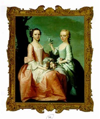 portrait of two young girls by jeremiah davidson