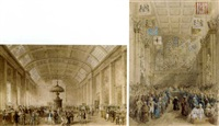 a crowded exchange (+ guildhall; 2 works) by thomas hosmer shepherd
