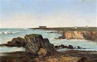 la villa sarah bernhardt sur la pointe des poulains a belle île en mer by alfred godchaux