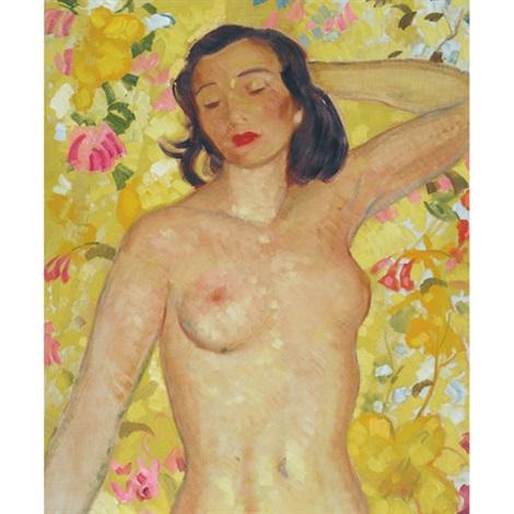reclining nude by randolph stanley hewton