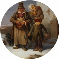 a beggar family by eugenio bosa