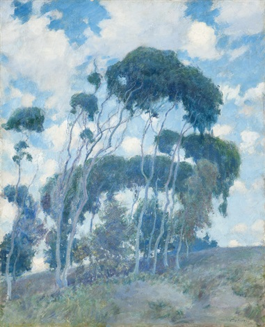 windswept trees laguna eucalyptus trees by guy rose