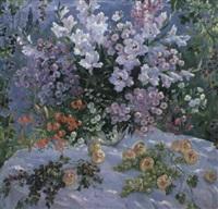la nature morte avec les fleurs by olga smirnova
