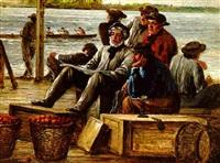 dockmen on the schuylkill by william e. winner