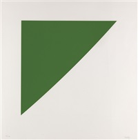 green curve with radius of 20º (from for meyer schapiro) by ellsworth kelly