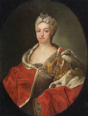portrait of the electoress maria amalia of bavaria by joseph vivien