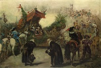 parade to celebrate the 800-year existence of düsseldorf 1888 - philipp wilh. welcomes karl ii of england by jacobus leisten