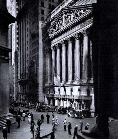 New York Stock Exchange from Retrospective by Berenice