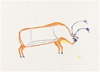fat caribou #32 by luke iksiktaaryuk