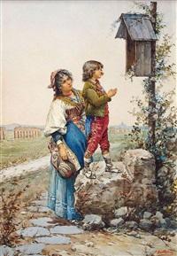 prière dans la campagne romaine by paolo bartolini