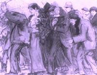 belgian refugees by gérardus hendrik grauss