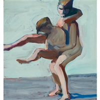 two boys wrestling by william theophilus brown