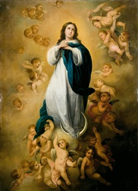 inmaculada (after murillo) by adolfe de aguila pimentel