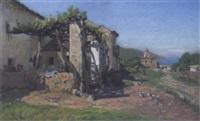 bauernhaus oberhalb des amphitheaters von taormina by otto geleng