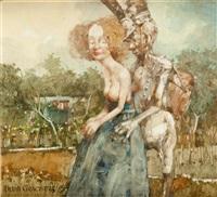 obraz 1783 miasto barlinek - oblężenie by jerzy duda-gracz