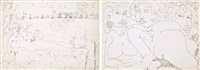 soggetti vari (2 works) by tono zancanaro
