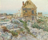 the norwegian cottage by childe hassam