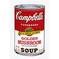 campbell's soupⅱ golden mushroom by andy warhol