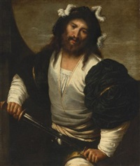 man drawing a sword by pietro muttoni