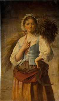 a portrait of a young peasant girl by jeanne bole