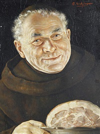 portrait of a monk by otto eichinger