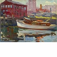 dock scene by charles salis kaelin