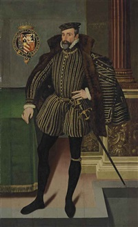 portrait of william herbert, 2nd earl of pembroke (1534-1601) by british school (16)