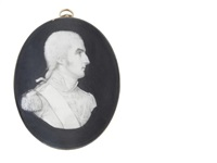 a bust-length portrait of richard colley wesley, 1st marquess wellesley, kg, pc (1760-1842), styled viscount wellesley from birth and the earl of mornington from 1781-1799 by samuel andrews
