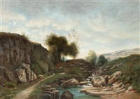 promenade en montagne by horace-antoine fonville