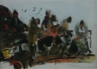 potato harvesters at work by william selwyn