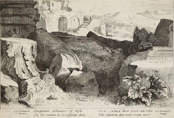 ruinen eines römischen tempels auf dem nervaforum by jan gerritsz van bronckhorst