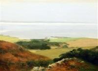 misty morning, trinity well, lambeg island by paul kelly
