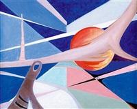 kompozycja abstrakcyjna i (from kosmiczna) by jan ziemski