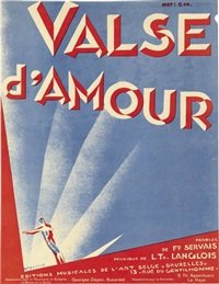 valse d'amour (sheet music cover) by rené magritte