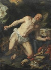 saint jerome by nicolas (roose) de liemaker