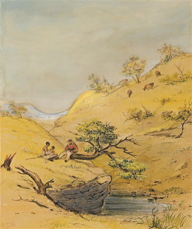 natives and pastoralist adelaide hills by samuel thomas gill