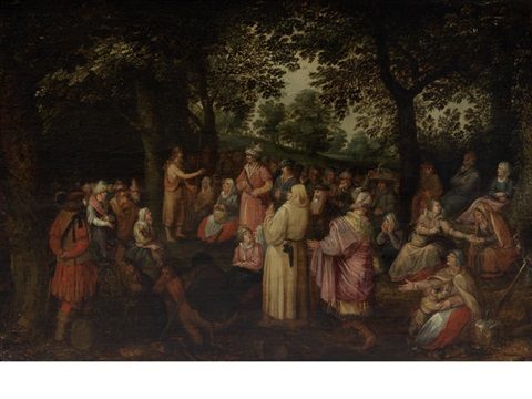 saint john the baptist preaching in the wilderness by david vinckboons