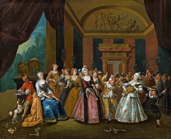 fröhliche gesellschaft beim tanz by frans breydel