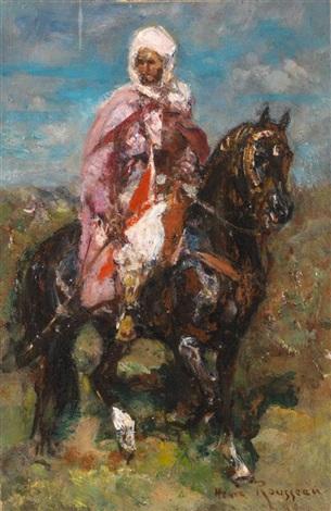 cavalier arabe by henri emilien rousseau