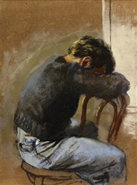 young man seated by walter stuempfig