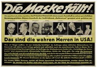 die maskefallt by posters: propaganda