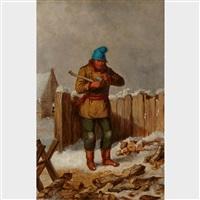 l'habitant by cornelius david krieghoff