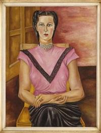 dama con perlas by maría izquierdo