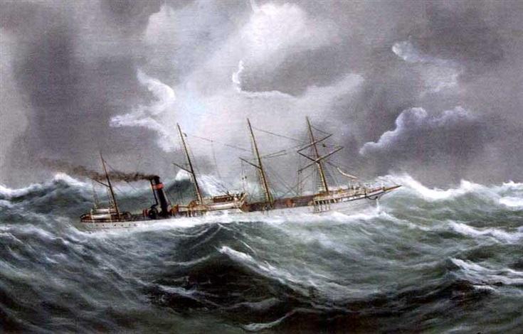 bateau pris dans la tempête by e adam