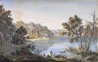 veduta di genzano dal lago di nemi by simone pomardi