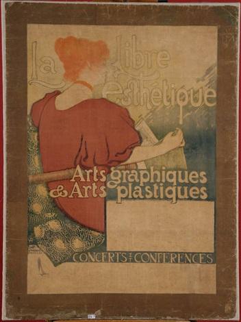 la libre esthétique arts graphiques et arts plastiques by théo van rysselberghe