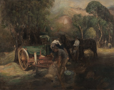 ranchers in the arroyo seco by jean mannheim