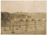 quais de saône et nouveau pont du change lyon by claude-marie ferrier